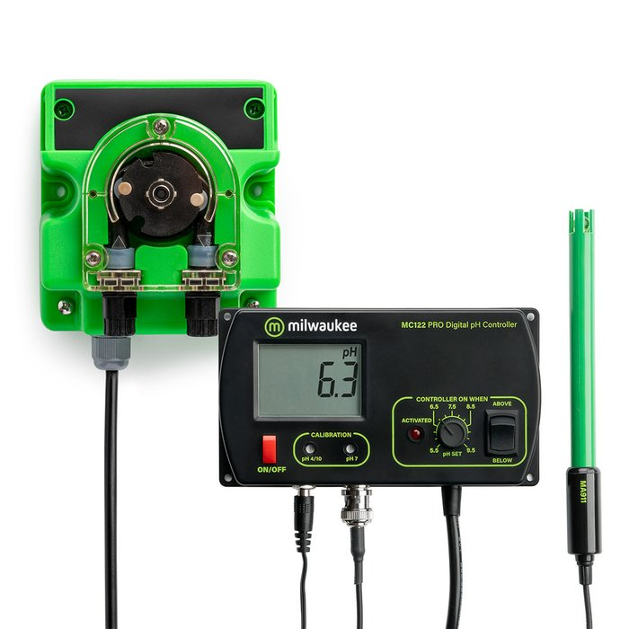 Milwaukee Set pH Monitor MC122 met micro-doseerpomp