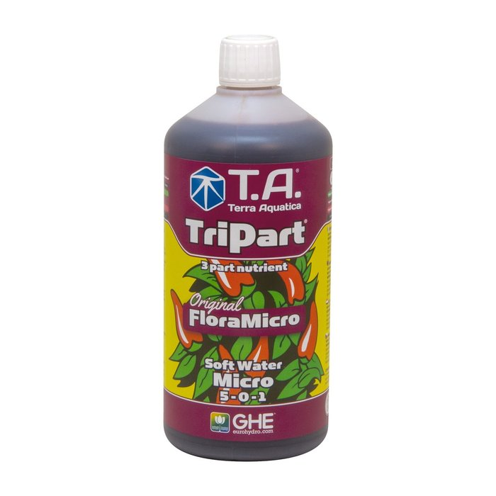 GHE TriPart Micro zacht water 1L (FloraMicro)