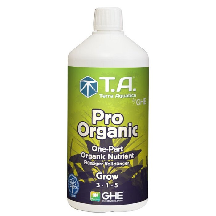 GHE Pro Organic Grow volledige meststof 1L, 5L
